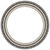 Oval silver picture frame Stock Photo