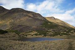 Oval sjö på foten Royaltyfri Bild