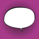 Oval Speech Bubble on Pink Background Stock Photography
