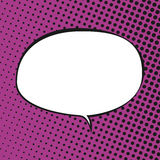 Oval Speech Bubble , Retro Style Stock Photos