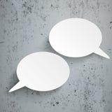 2 Oval Speech Bubbles Concrete Royalty Free Stock Photo
