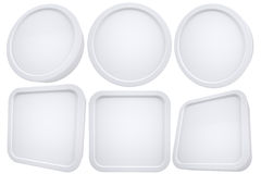 Oval and square white frames Stock Images