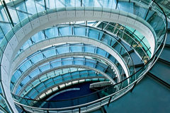 Oval stairway Royalty Free Stock Photo