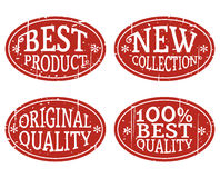 Oval Stamps Royalty Free Stock Images
