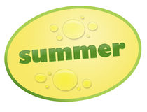 Sticker summer. Oval sticker with the words royalty free illustration