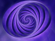 Oval Swirls Stripes Blue Color Royalty Free Stock Photos