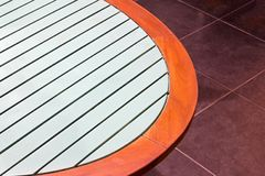Oval table Stock Photography