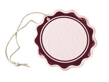 Oval tag. Beautiful price tag or address label Stock Images