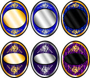 Oval Template Set 1 Royalty Free Stock Photography