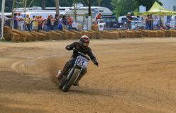 Oval track motorcycle race stock photography