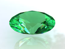 Oval turquoise green emerald. 3D Royalty Free Stock Photography