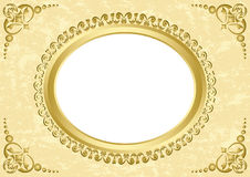 Oval vector frame on grunge background Stock Photo