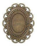 Oval vintage brass frame. On white background Royalty Free Stock Image