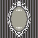 Oval vintage frame vector illustration
