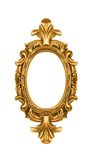 Oval vintage gold ornate frame royalty free stock image
