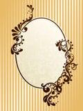 Oval vintage sepia frame Stock Photo