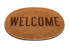 Oval welcome doormat Royalty Free Stock Image