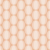Oval White Abstract Pattern on Beige Royalty Free Stock Images