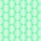 Oval White Abstract Pattern on Green Stock Photo