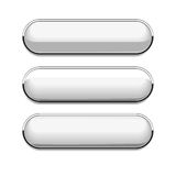 Oval white buttons Stock Image