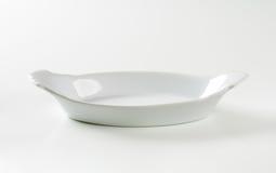 Oval White Ceramic Baking Dish Royalty Free Stock Photography
