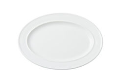 Oval white empty plate Royalty Free Stock Image