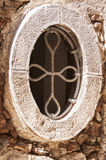 Oval stone window Stock Photo