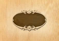 Oval wood frame Royalty Free Stock Photo