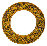 Oval wood frame Royalty Free Stock Photos