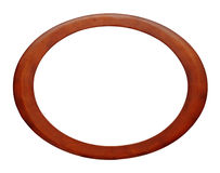 Oval wood picture frame Stock Image