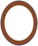 Oval wood picture frame royalty free stock photography