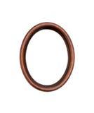 Oval wood ram för tappning Arkivfoton