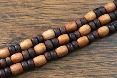 Oval wooden beads Royalty Free Stock Photography