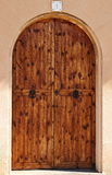 Oval wooden doors Stock Photography