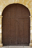 Oval Wooden Doors With Iron Fittings Stock Images