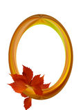 Oval wooden frame Royalty Free Stock Photography