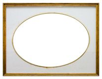 Oval wooden frame Royalty Free Stock Image