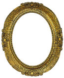 Oval  wooden gilded Frame Stock Photo