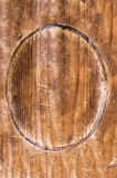 Oval Wooden Signbord Stock Photo