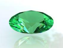 Oval zieht grünen Smaragd fest lizenzfreie abbildung