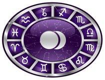 oval zodiac Royaltyfri Fotografi