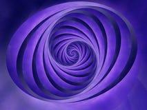 ovala bandswirls för blå färg royaltyfri illustrationer