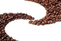 Ovala kaffebönor Arkivbild