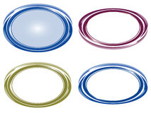 Ovala symboler vektor illustrationer