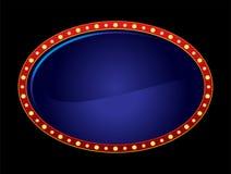 ovale au néon Image libre de droits