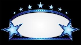 Ovale blu Immagini Stock