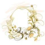 Ovale Blumenverzierung Stockbilder