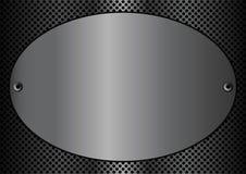 Ovale de plaque en métal illustration de vecteur
