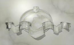 Ovale di marmo della parete illustrazione di stock