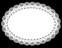 Ovale Doily van het Kant (jpg+ vector) Royalty-vrije Stock Afbeelding